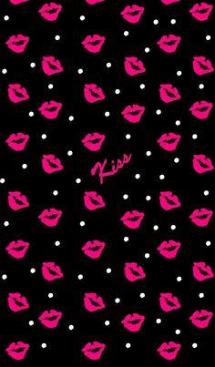 The Kisses Wallpaper Lip Wallpaper, Heart Wallpaper, Cute Wallpaper Backgrounds, Pretty Wallpapers, Galaxy Wallpaper, Cellphone Wallpaper, Flower Wallpaper, Screen Wallpaper, Cool Wallpaper