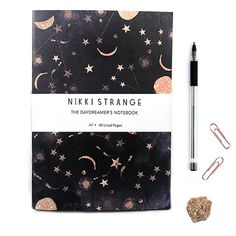 Constellations A5 Notebook with lined pages by Nikkistrange