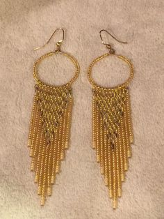 A personal favorite from my Etsy shop https://www.etsy.com/listing/230329570/seed-bead-earrings