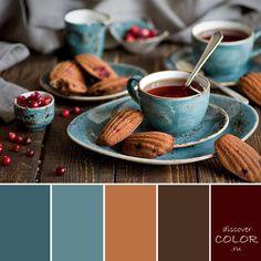 Чай в голубой чашке | DiscoverColor.ru