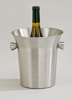 Stainless Steel Wine Cooler with Knob Handle