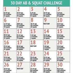 30 Tage Challenge: Bauch Beine Po – Sixpack, ABs & Squads