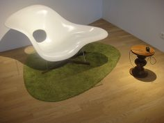 La Chaise designed by Charles and Ray Eames  for a Moma Competition  in 1948. Produced by Vitra.