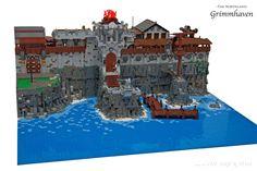 http://www.brickshelf.com/gallery/mrbrickbob/Castle/Grimmhaven/tbt_0451_lego_ritter_hafen_nordland_grimmhaven.jpg