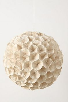 Rhododendron Chandelier from Anthropologie. Another great light for a little girl's room! This would be perfect in a garden room filled with butterflies!