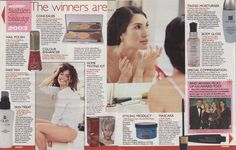 Woman Magazine pages 36 & 37 - This edition features the Ariane Poole Concealer Palette on page 36.