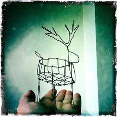 reindeer wire sculpture