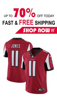 4d9c4836e Free shipping Julio Jones Atlanta Falcons football Game Jersey red  red   Crochet  Printables