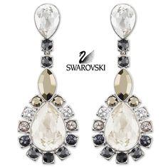 $125 Swarovski Color Crystal Pierced Earrings VALESKA #5019096 New