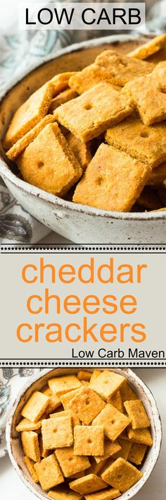 Low carb cheddar cheese crackers with a flaky crispy texture like no other! Low carb cheddar cheese crackers with a flaky crispy texture like no other! Low Carb Crackers, Gluten Free Crackers, Butter Crackers, Quiche, Low Carb Desserts, Low Carb Recipes, Healthy Recipes, Keto Snacks, Snack Recipes
