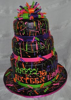 OH YEAH!!! This was sooo much fun to make! my kitchen is still covered in neon splatters!
