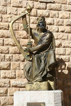 Statue Of King David In Jerusalem, Israel