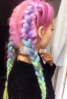 Rainbow hair is my weakness omg