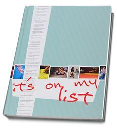 """Shawnee Mission Northwest High School yearbook cover THEME: """"It's on my list"""" I like the clean design of this cover."""