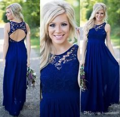 Cheap Country Bridesmaid Dresses 2017 New For Weddings Illusion Neck Chiffon Lace Navy Blue Party Floor Length Maid Honor Gowns Under 100 Lace Bridesmaid Dresses Country Bridesmaid Dresses Plus Size Bridesmaid Dresses Online with $97.15/Piece on Haiyan4419's Store | DHgate.com