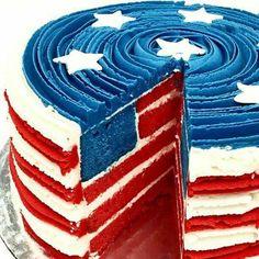 USA CAKE YUMMY!!!!!