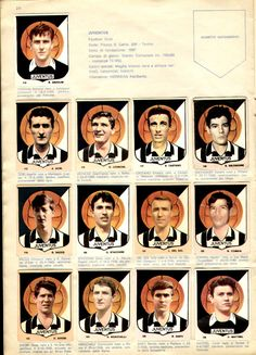 Juventus team stickers for Juventus Team, Soccer Guys, Football Stickers, Club, 1960s, Hs Sports, Picture Cards, Templates, Figurine