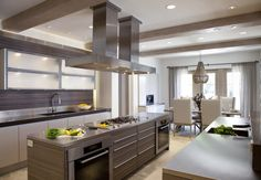 What's not to love about this luxurious kitchen designed by Laurie Haefele?  The open concept design is perfect for entertaining or cooking up a fancy meal for two.