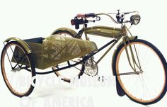 1917 Harley Davidson bicycle with sidecar, pretty awesome!