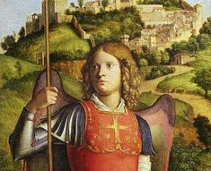 Cima da Conegliano: Detail, Madonna with Saints. Michael the Archangel