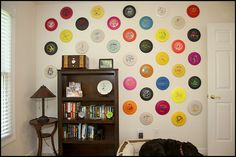 Hanging discs on the wall - Disc Golf Course Review