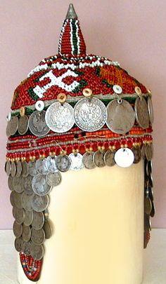 Chuvash headdress coins and beads
