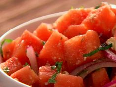 Gearing up for our 3rd week of wellness through Live Well, our corporate employee wellness program! Tomorrow we're going to provide employees samples of this zesty watermelon salad recipe, just in time for the 4th of July celebrations: http://www.foodnetwork.com/recipes/patrick-and-gina-neely/watermelon-salad-recipe/index.html?oc=linkback  Yum!