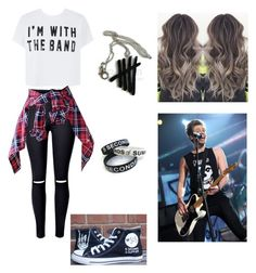 """""""Outfit for meeting Luke in a 5SOS concert"""" by martafmmarques ❤ liked on Polyvore"""