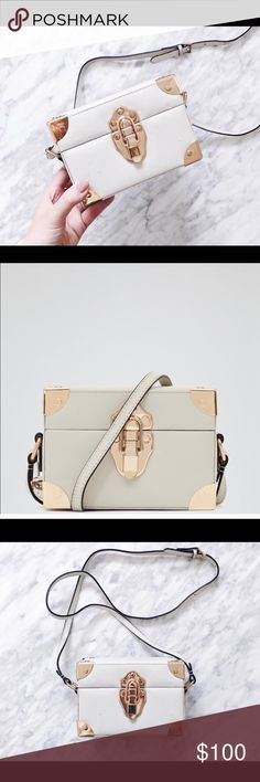 30a5ce8727 Reiss Efren box purse Reiss Efren off-white box purse with gold hardware,  bought