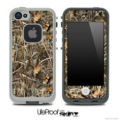 Real Camouflage Max Skin for the iPhone 5 or 4/4s LifeProof Case
