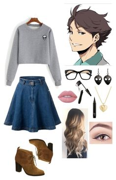 """Oikawa tooru casual cosplay"" by zainsarassra on Polyvore featuring Lime Crime, Lancôme, Nicole, WrecordsByMonkey and Finn"