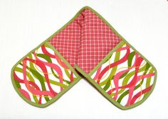 Double Oven Mitt Pot Holders Insulated Watermelon - these are super cute!