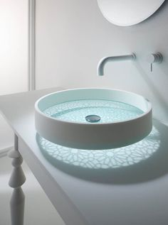bathroom glass bottomed sink This futuristic sink you've never seen before. As usual sink design that takes form of sharing, ranging from basin bowl round,
