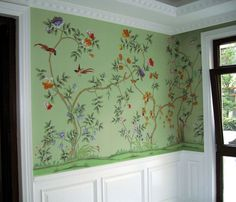 Batavia  Griffin and Wong chinoiserie handpainted wallpaper