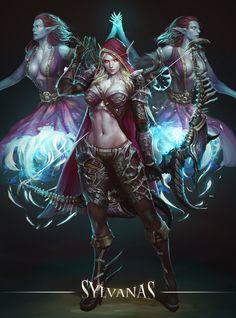 Banshee Queen Sylvanas – World of Warcraft fan art by JeongSeok Lee View Original Source Here Dark Fantasy Art, Fantasy Girl, Fantasy Art Women, Fantasy Warrior, Fantasy Artwork, World Of Warcraft, Art Warcraft, Elfa, Fantasy Characters
