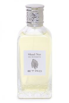 Shaal Nur by Etro is an aromatic, balsamic and spicy Oriental Woody fragrance with lemon, bergamot, grapefruit, Brazilian rosewood, coriander and mandarin orange in the top. Rosemary, tarragon, rose, thyme, karo karounde flower and petitgrain in the middle. Incense, opopanax, cedar, vetiver, patchouli, musk and nutmeg in the base. - Fragrantica
