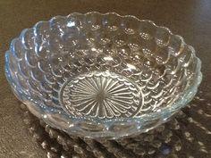 Depression Glass Blue Bubble Lg. Serving Bowl  by AntiquesByGranny