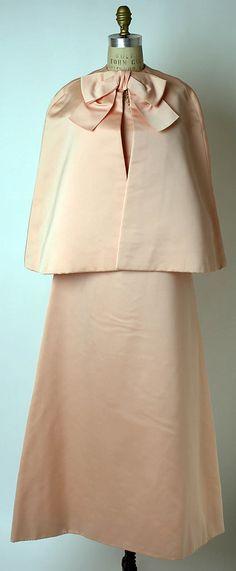 Ensemble, Evening  House of Dior  Designer: (a, b) Marc Bohan  Designer: (c, d) Roger Vivier  Date: fall/winter 1967–68
