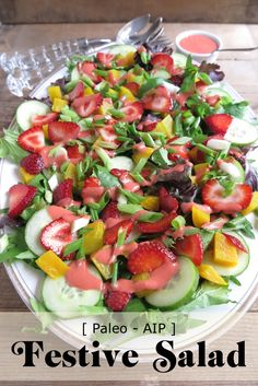   Festive Salad for Holidays and Celebrations (AIP – Paleo)   http://asquirrelinthekitchen.com