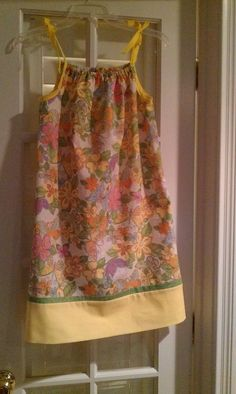 Made this from a pillow case. First I made the pillow case then made the & Pillow case dress made from the pattern from crafty gemini. | Ugly ... pillowsntoast.com