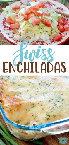 Swiss Enchiladas Are Cream-Based Corn Tortillas Stuffed With A Creamy Chicken Mixture And Topped A Cream Sauce And Even More Cheese Enchiladas, Mexican Dishes, Mexican Food Recipes, Easy Dinner Recipes, Breakfast Recipes, Food Dishes, Main Dishes, Cooking Recipes, Healthy Recipes
