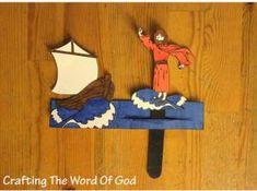 Easy Bible Crafts for Kids: Jesus Walks On Water Jesus Crafts, Bible Story Crafts, Bible School Crafts, Bible Crafts For Kids, Preschool Bible, Vbs Crafts, Bible Activities, Church Crafts, Water Crafts