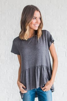DETAILS: - Solid Rayon Top - Fabric Content: 95% Rayon 5% Spandex - Model is wearing a small
