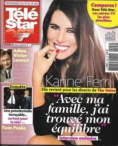 TELE STAR N°2120 20/05/2017 KARINE FERRI/ LANOUX/ MACRON/ BELLUCCI/ TWIN PEAKS/ MITCHUM
