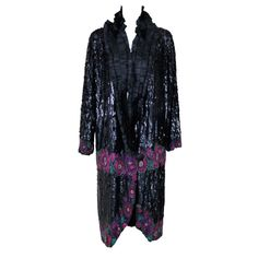 France 1920's French  Art Deco Sequin and Beaded Coat.
