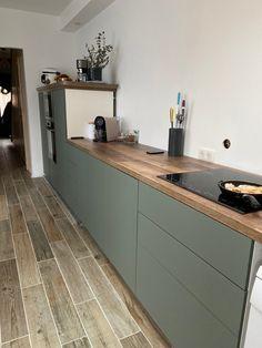 Grey Kitchen Designs, Kitchen Room Design, Home Decor Kitchen, Interior Design Kitchen, New Kitchen, Home Kitchens, Ikea Kitchen Inspiration, Ikea Kitchen Storage, Open Plan Kitchen Dining Living