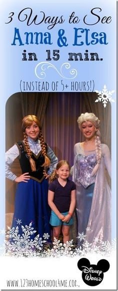 Would you like to know how to meet Anna and Elsa from Frozen at Disney in under 15 minutes. Here are some top secret tips to avoid the 5 hours wait!.