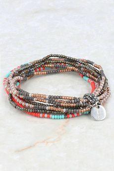 Chan Luu - Granite Green Multi Strand Stretch Bracelet, $33.00 (http ...