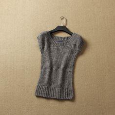 Único das mulheres horizontal tarja tecido colete plus size camisola magro pulôver em Pulôvers de Roupas e Acessórios Femininos no AliExpress.com | Alibaba Group