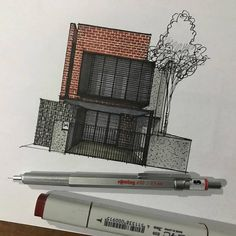 Architecture facade study Haji Goden project by ________________________________ . Interior Architecture Drawing, Architecture Drawing Sketchbooks, Architecture Concept Drawings, Interior Design Sketches, Facade Architecture, Ancient Architecture, Architecture Memes, Scda Architects, Architect Drawing